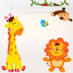 Children's vinyl Kit animals Zoo