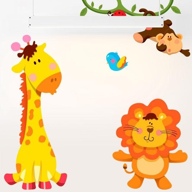 Children's vinyl Kit animals Zoo