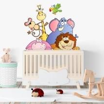 Vinyl adhesive children's animal Zoo