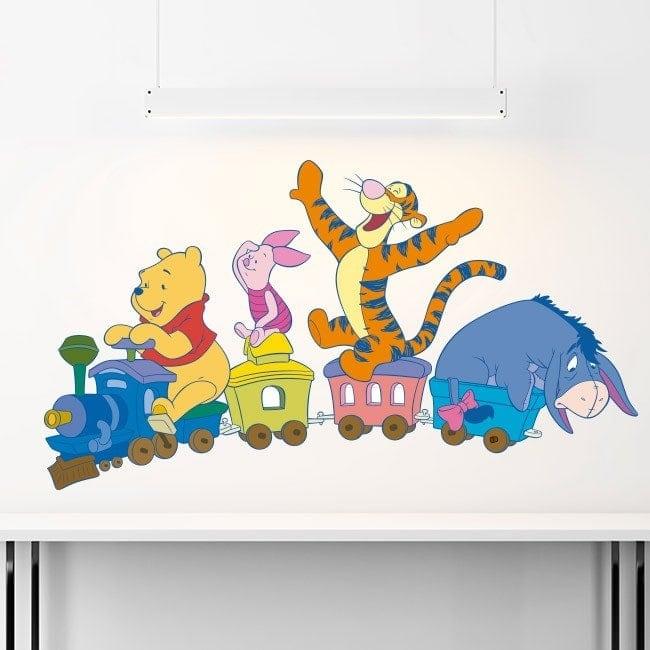 Children's vinyl train Winnie The Pooh