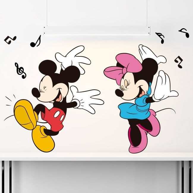 Mickey and Minnie Mouse children's vinyl