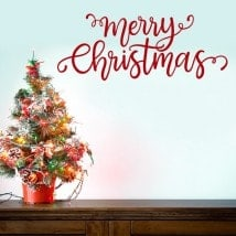 Merry Christmas decorative vinyl English 5499