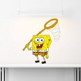 Adhesive vinyl walls Sponge Bob
