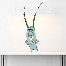 Plankton Sponge Bob stickers