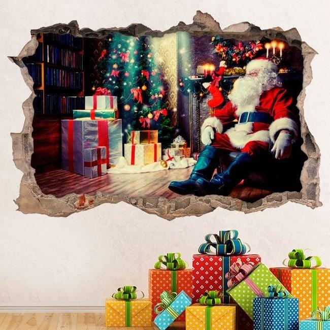 3D Santa Claus Christmas vinyl