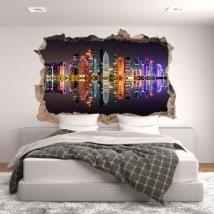 3D vinyl hole wall Doha Qatar