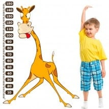 Measuring vinyl children's giraffe