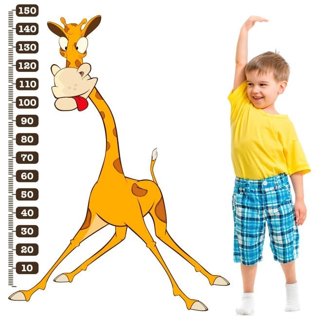 Measuring vinyl children's giraffe