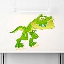 Vinyl child dinosaur