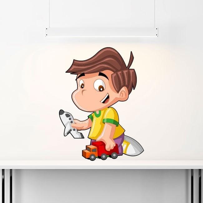 Child playing children's vinyl