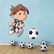 Children's vinyl footballer