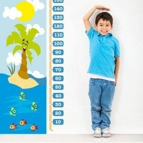 Measuring children's vinyl Beach days
