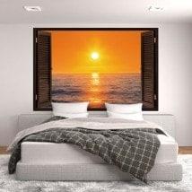 Windows 3D Sun sunset