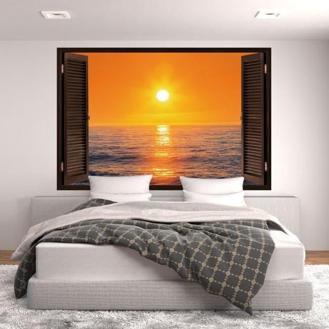 Windows 3D Sun sunset