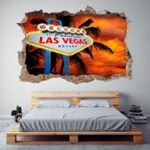 Vinyl 3D poster Las Vegas