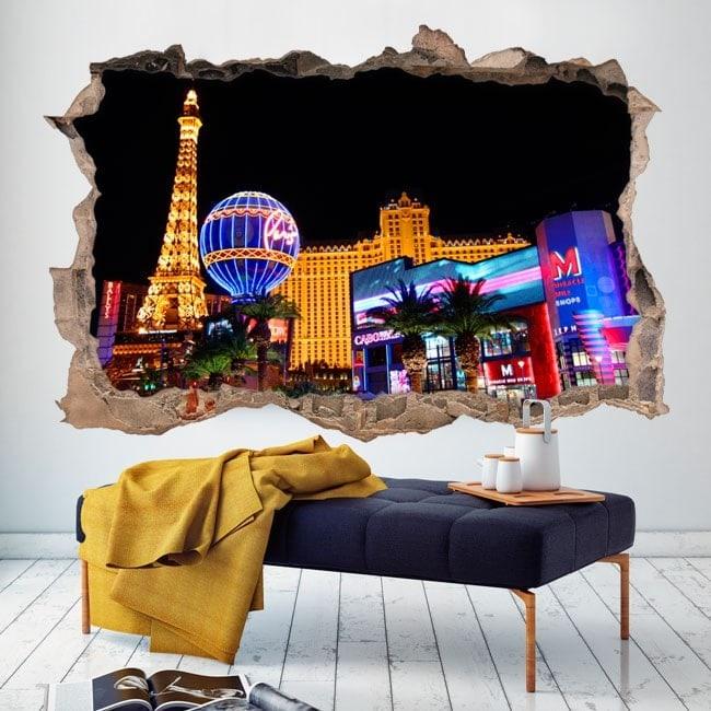 3D vinyl hole wall Las Vegas
