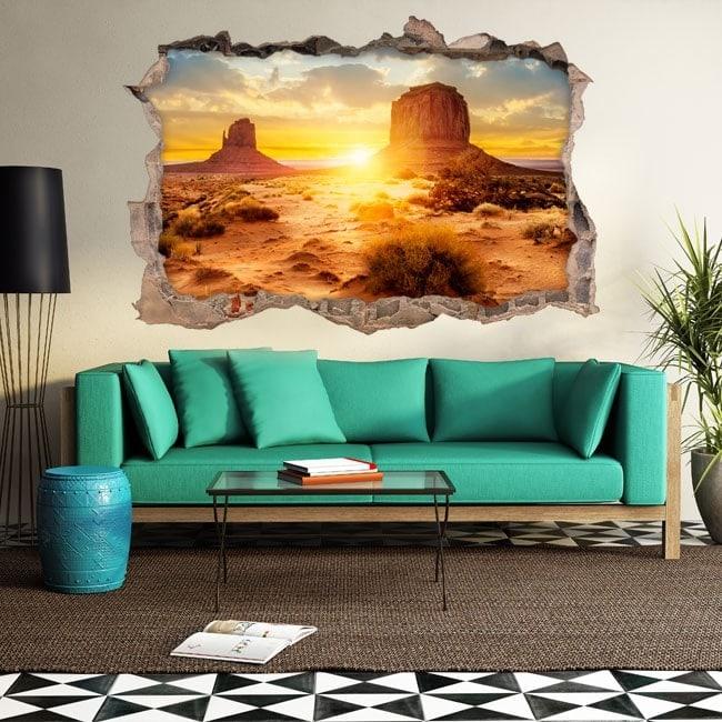 Vinyl 3D sunset in the desert English 5633