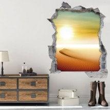 Vinyl 3D Sun in the desert