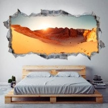 Vinyl 3D panoramic desert
