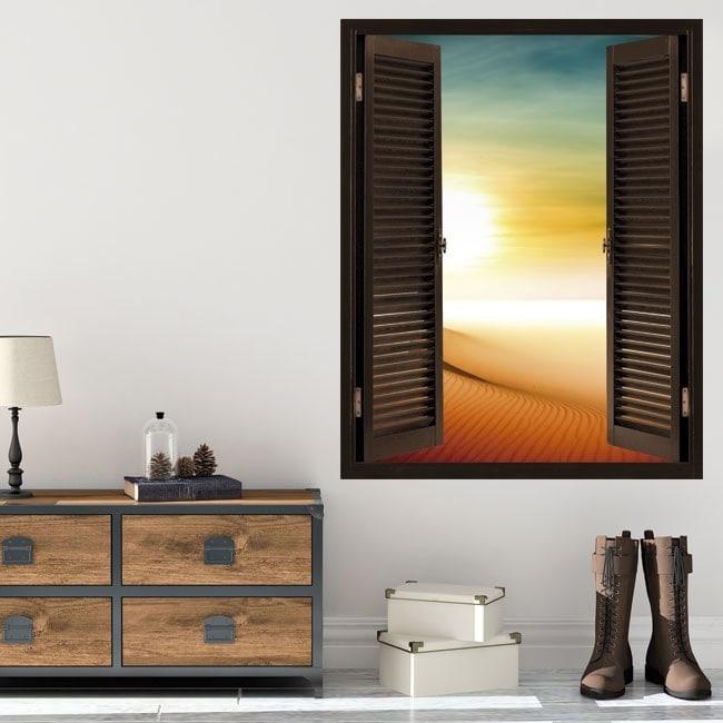 Windows 3D Sun in the desert