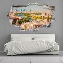 Paris vinyl hole 3D wall