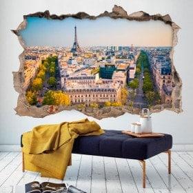 Vinyl wall broken Paris
