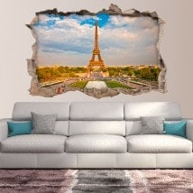 Vinyl 3D Paris Eiffel Tower