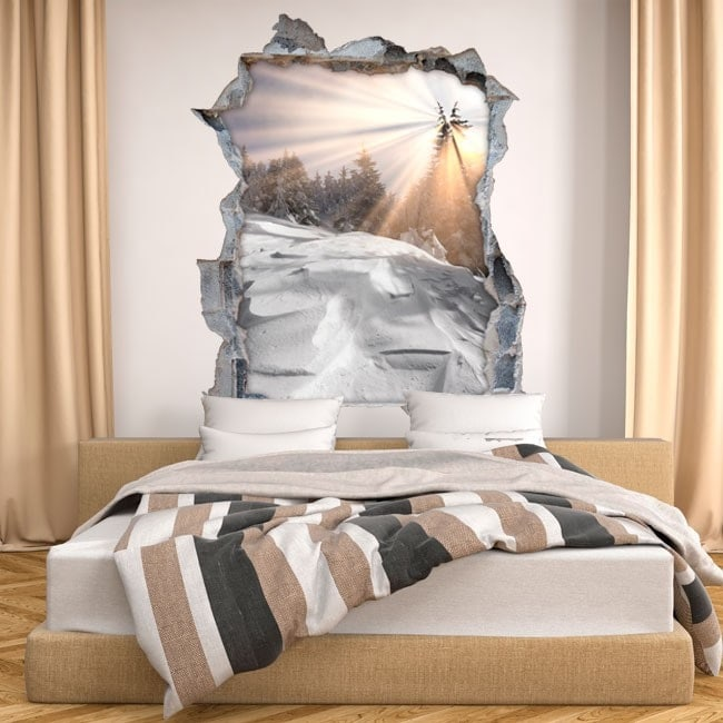 Vinyl wall broken snowy mountains