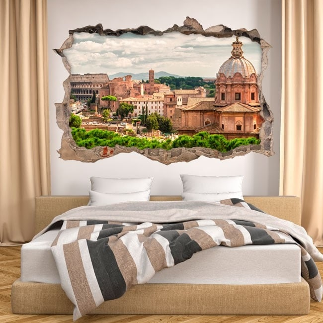 Vinyl 3D Roman Forum and Colosseum