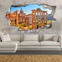 Vinyl 3D Roman ruins in Rome