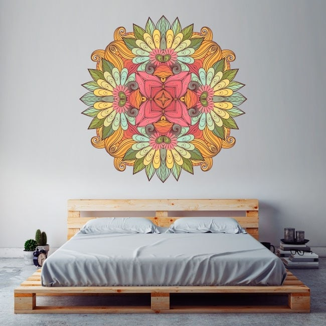 Mandala wall vinyl English 5709