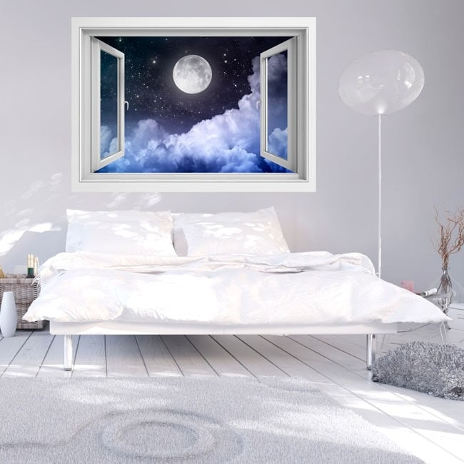 Windows in vinyl full moon 3D English 5734