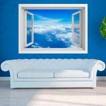 Windows 3D clouds in the sky