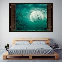 Windows in vinyl full moon 3D English 5742