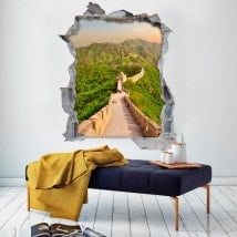Vinyl 3D great wall of China