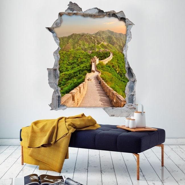 Vinyl 3D great wall of China
