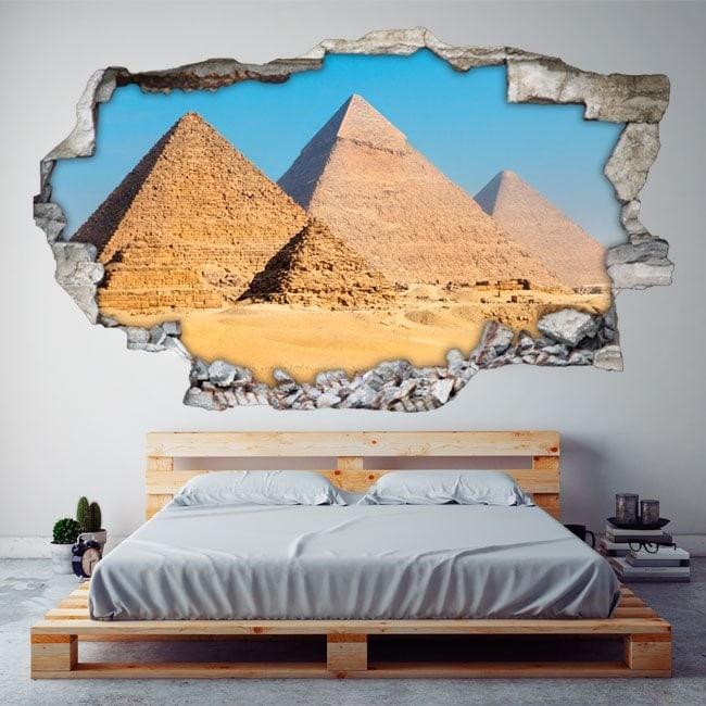Vinyl 3D pyramids of Giza