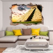 3D pyramid vinyl Chichen Itza