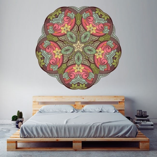 Mandala wall vinyl English 5773