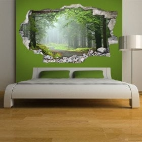 Vinyl 3D walls road and nature