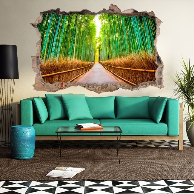 Vinyl 3D bamboos and road