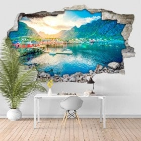Vinyl sunset Norway 3D