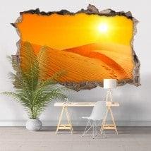 Vinyl 3D sunset in the desert English 5812