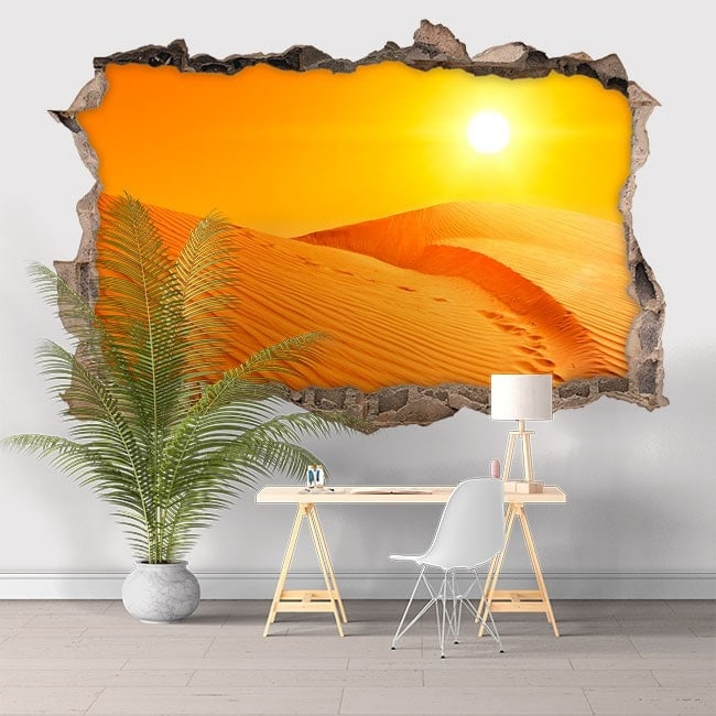 Vinyl 3D sunset in the desert English 5812