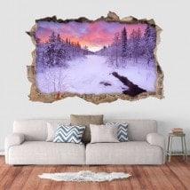 Vinyl 3D sunset in Lapland