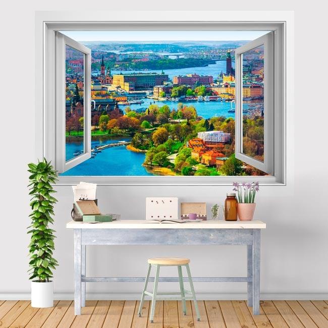 Vinyl window 3D Stockholm