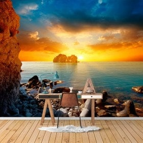 Photo wall murals sunset on the sea