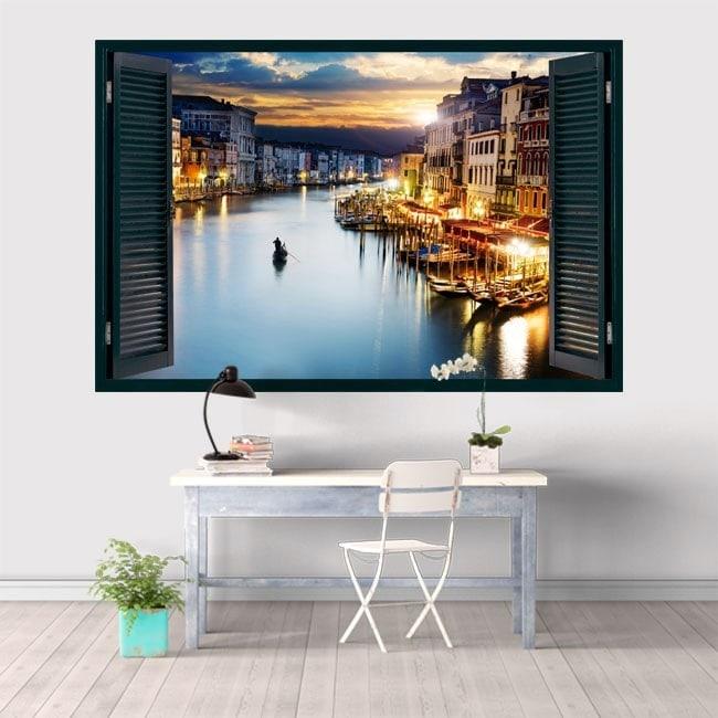 Windows in vinyl 3D Venice