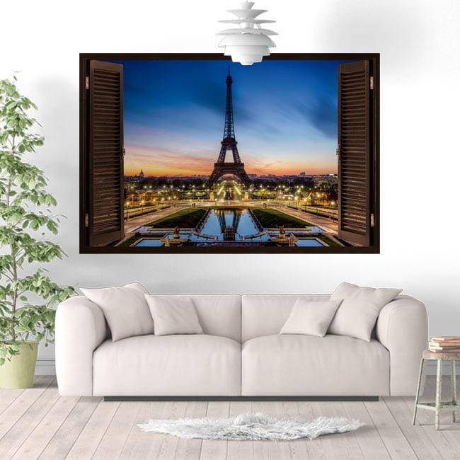 Vinyl Windows Paris Eiffel Tower