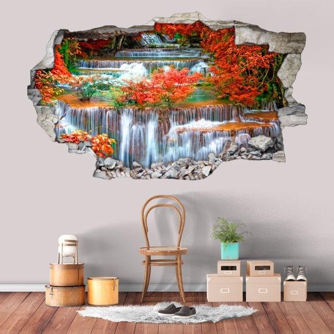 Vinyl 3D waterfalls in nature
